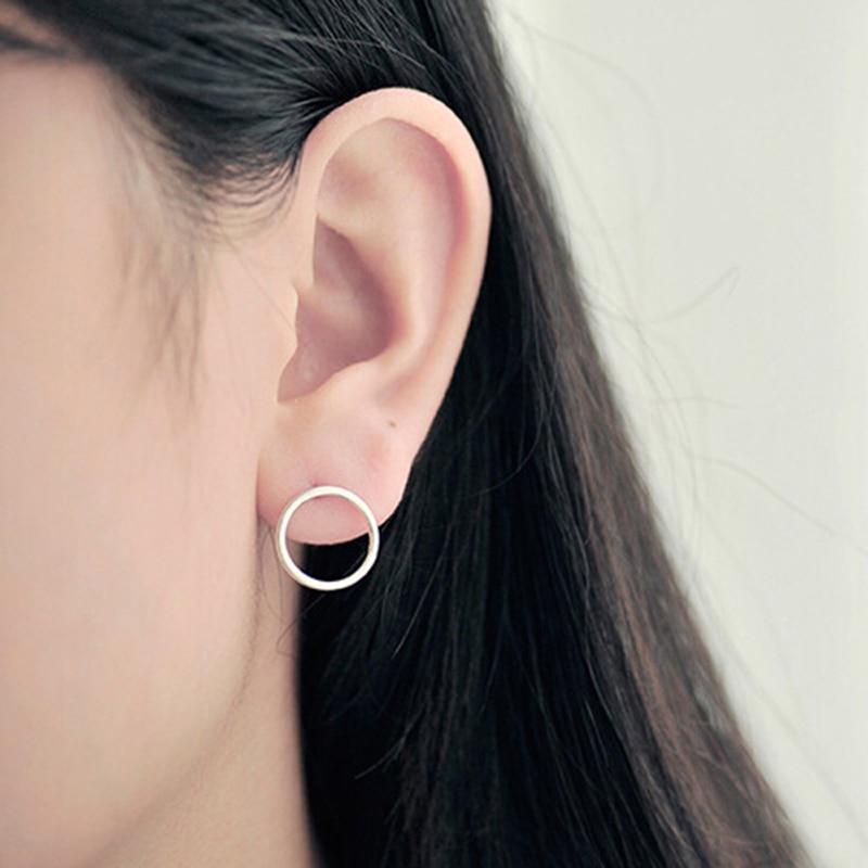 Minimalism Kõrvarõngad Charm Circle Karma kõrvarõngad naistele - Mood ehteid - Foto 4