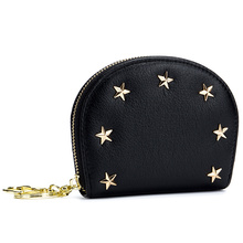New Arrivals Cowhide Leather European And American Women Purse 2018 Fashion Brand Design Start Style Womens Wallet Hot Sales