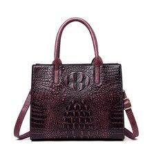 Женские сумки из натуральной кожи с крокодиловым узором, винтажные модные роскошные сумки из кожи аллигатора, женские сумки-тоут, дизайнерская сумка на плечо