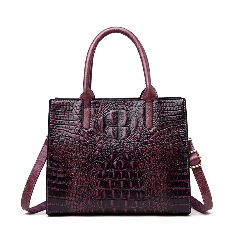 Crocodile Pattern Women Genuine Leather Bags Vintage Fashion Alligator Luxury Handbags Women Tote Bags Designer Shoulder Bag