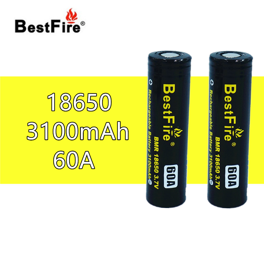 2 pcs BestFire 18650 3.7V 3100mAh 60A Rechargeable Battery For Wismec Reuleaux GEN3 <font><b>RX200S</b></font> RX2/3 RX300 Vape Box Mod Kit B121 image