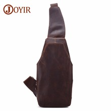 JOYIR Men Chest Bags Single Shoulder Bag Strap Back Bags Genuine Leather Travel Men Crossbody Bags Vintage Chest Pack For Men недорого