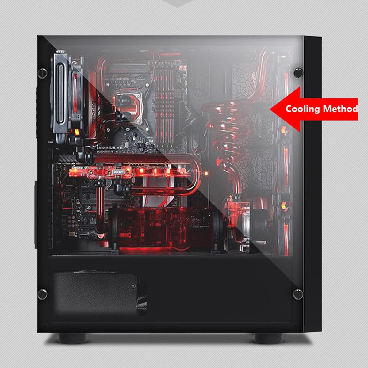 V3 ATX компьютерных игр корпус 8 Вентилятор Порты USB3.0 для M-ATX/Mini-ITX материнская плата Mid-Tower водяного охлаждения корпус