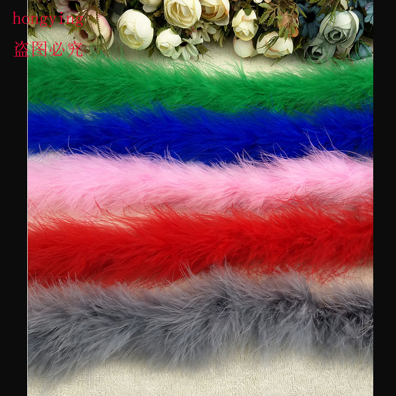 1 PCS /lot 2 meters long 16g feather turkey feather boa for burlesque boas fancy dress party various color available