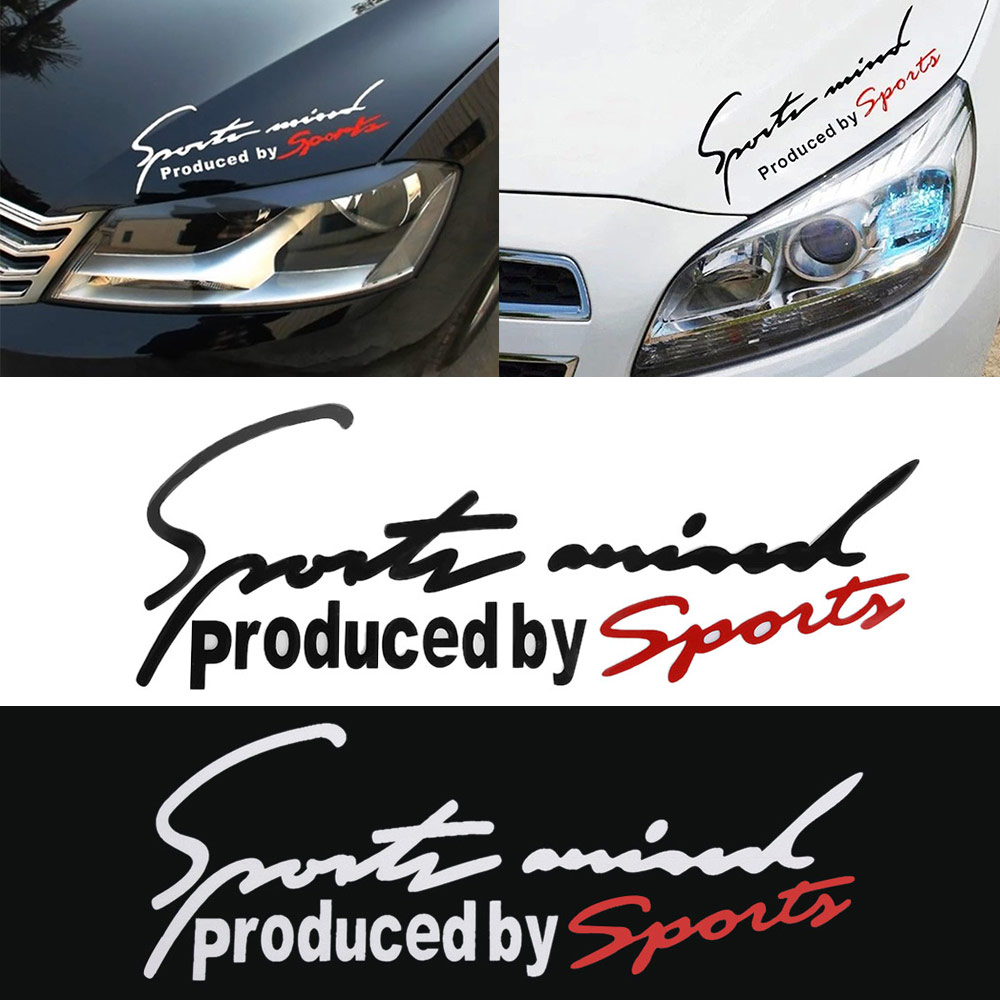 Sport Letter Car Stickers Decoration Emblem Badge Decal Auto Automobile Bonnet Sticker Car-styling for Audi BMW Mercedes Benz(China)