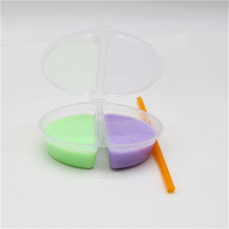 iWish 75g Slime Crystal Mud 2 Color Pack Kids Toys Liquid Glass Balloon Clay Separation Box Play Transparent Magic Plasticine