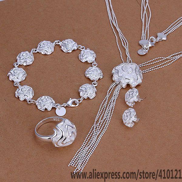 d507b7d2a4d4 √Venta Caliente plateada plata joyería S326