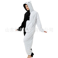 2019 New Black and white bear christmas costume party onesies for adult cosplay pajamas pajama funny warm woman/man couples