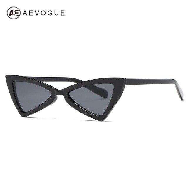 e8e1287f6ea82 AEVOGUE Hot Ponta Aguda óculos de Olho de Gato óculos de sol Da Moda Óculos  De