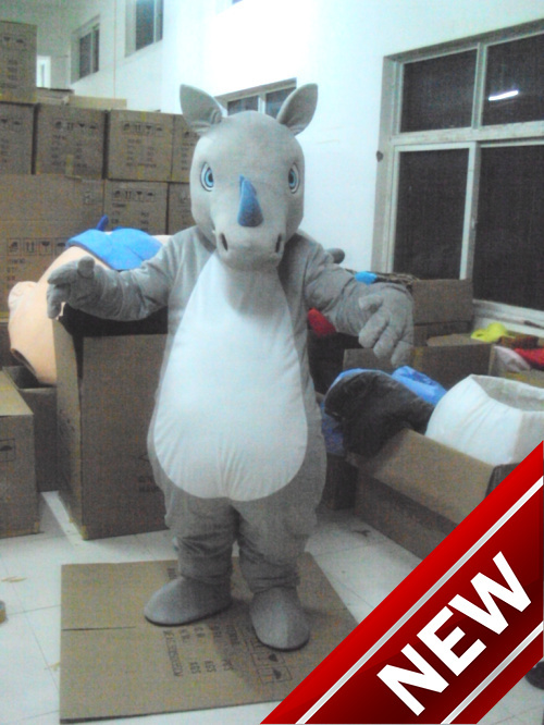 2017 New Rhino Unicorn Mascot Costume For Adults Christmas Halloween Outfit Fancy Dress Suit Free Shipping Drop Shipping