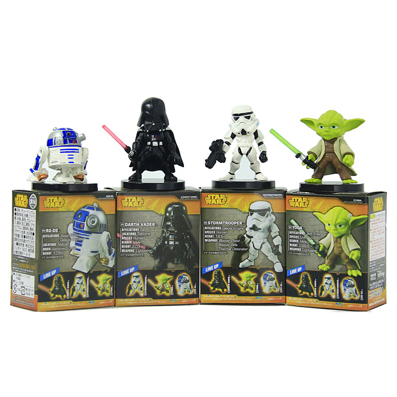 Star Wars 6cm Yoda Darth Vader R2-D2 Robot Stormtroopers Action Figure Model Toy  Warrior Stormtrooper Robot Vader Yoda Toy Gift цена 2017