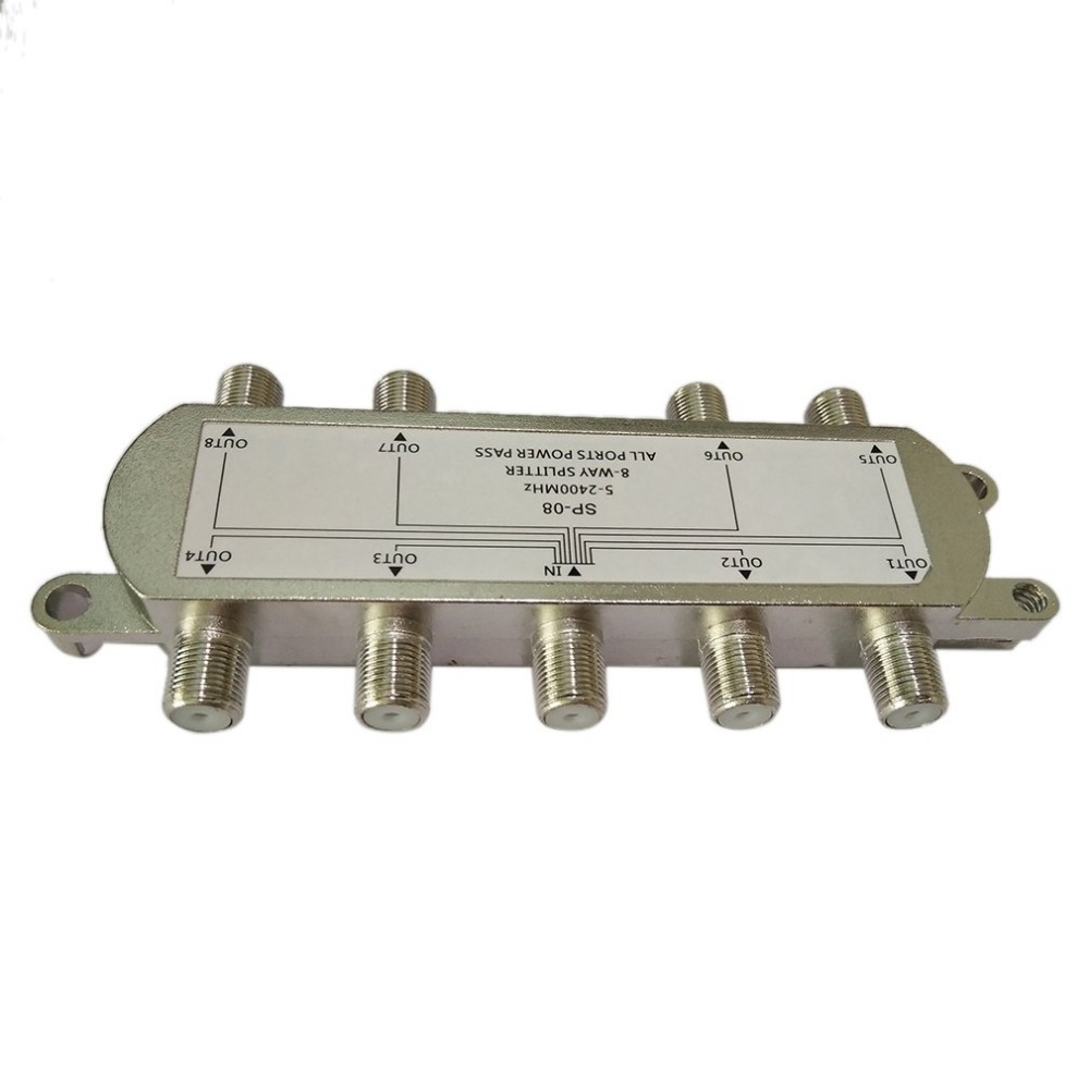 Image 4 - SP 08 8 Way Signal Satellite Splitter TV Antenna RF Coaxial Cable Splitter Wholesale-in TV Antenna from Consumer Electronics