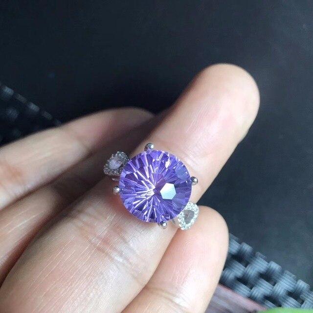 Fine Jewellery Natural Topaz Beautiful Cutting Process Ring5