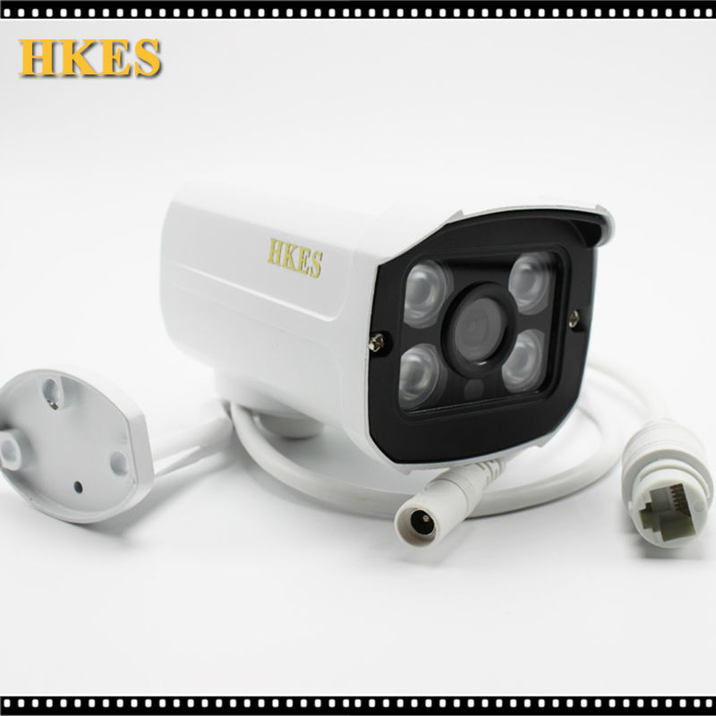 HKES Aluminum Metal Waterproof Outdoor Bullet IP Camera 720P 960P 1080P 2.8mm lens Security Camera CCTV   Board ONVIF Camera wistino white color metal camera housing outdoor use waterproof bullet casing for cctv camera ip camera hot sale cover case