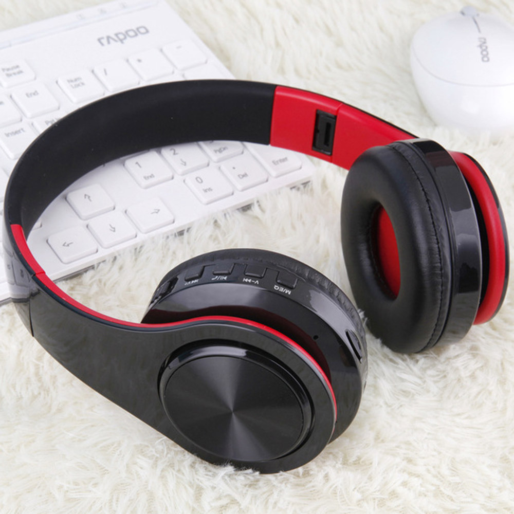 2018 upgrated fone de ouvido  Wireless Bluetooth 4.1 Headphones Super Bass Support TF Card Earphones  For iPhone  Mobile Phone