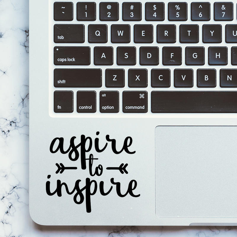 Inspired Quote Trackpad Decal Laptop Sticker for Apple MacBook Pro Air Retina 11 12 13 15 inch Mac Notebook Vinyl Touchpad Skin