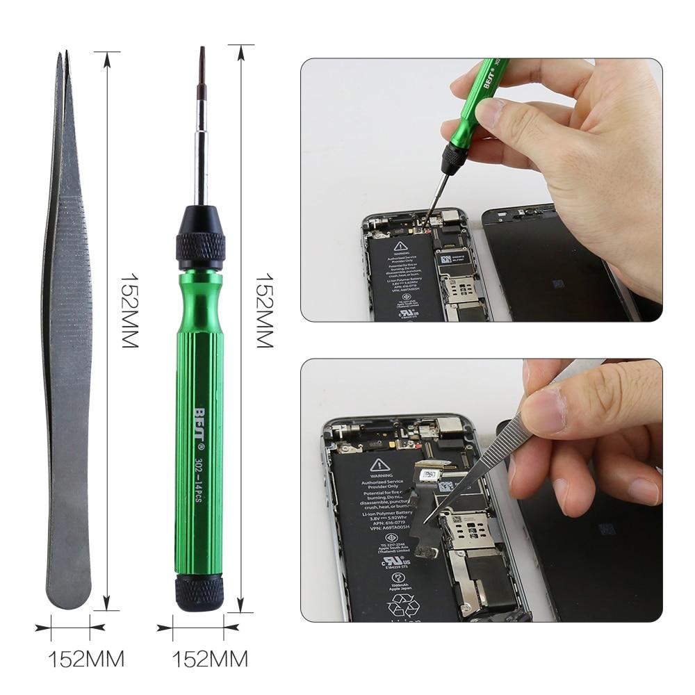 BST-302 14 in1 Multi-purpose Screwdriver Opening Repair Tool Kit Set for iPhone 6 6S 7 8 Plus Samsung