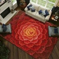 Шерсть большой размер ковры для кафе гостиной спальня прихожая прикроватная прохода искусства, ковры украшения пол ковер Красный пользова
