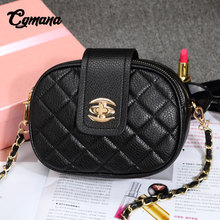 CGmana Women Bag 2018 High Quality Retro Handbag Crossbody Bags Fashion Shoulder Diagonal Mini Lingge Chain Handbags