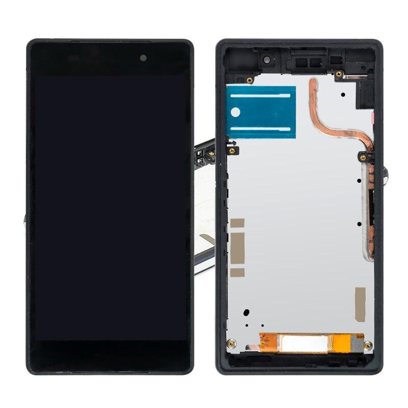 10 PCS/Lot remplacement d'écran pour Sony Xperia Z2 D6503 D6502 écran LCD + numériseur écran tactile assemblage avec cadre