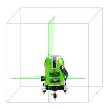 Firecore EK-168GJ 2 lignes niveau laser vert 535nm L'UE 360 degrés rotatif croix laser ligne Horizontale et Verticale Extérieure niveaux