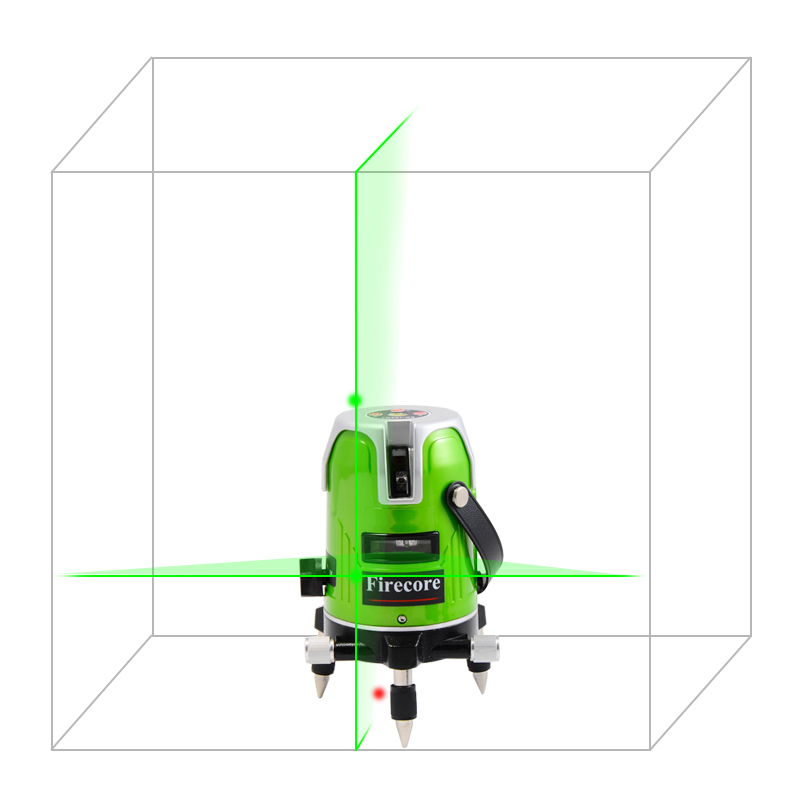 Firecore EK-168GJ 2 lines green laser level 535nm EU 360 degree rotary cross laser line Horizontal and Vertical Outdoor levels kapro laser level laser angle meter investment line instrument 90 degree laser vertical scribe 20 meters