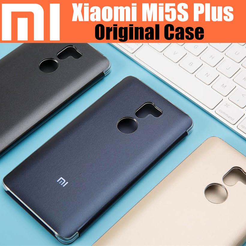 bilder für 100% original xiaomi mi5s plus smart magnet fLip-cover fall offizielle xiaomi unternehmen xiaomi mi5s plus fall