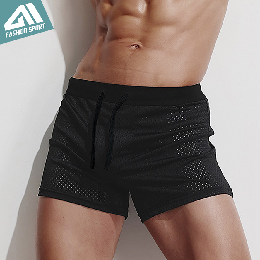 AIMPACT Mesh Men's Board Shorts Fast Dry 2018 Summer Holiday Beach Surf Swimming Trunks Sport Running Hybird Shorts AM2048