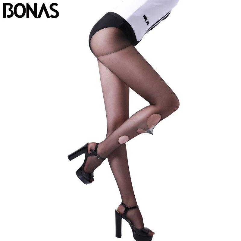 BONAS нервущегося колготки нейлон Колготки для новорождённых Для женщин пикантные черные сапоги кожи Эротические чулки для женщин женские Чу...