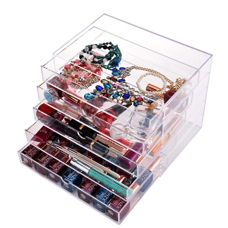 Aliexpress.com : Buy Clear Acrylic 5 Drawers Jewelry Storage Box Makeup Organizer High Quality ...