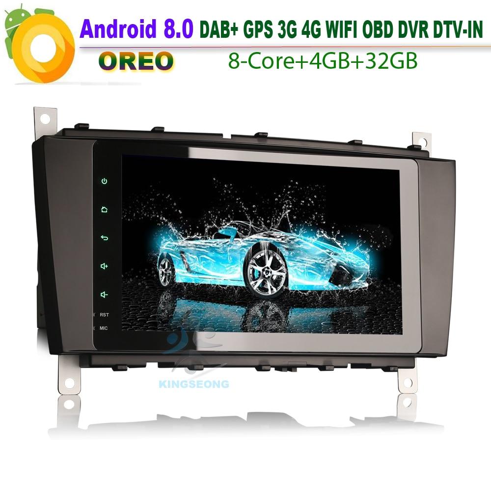 8 Core 8Android 8.0 Car Stereo GPS Navigation for Mercedes Benz class C/G/CLK W203 W209 Viano Vito DAB+Autoradio 4G OBD WIFI BT