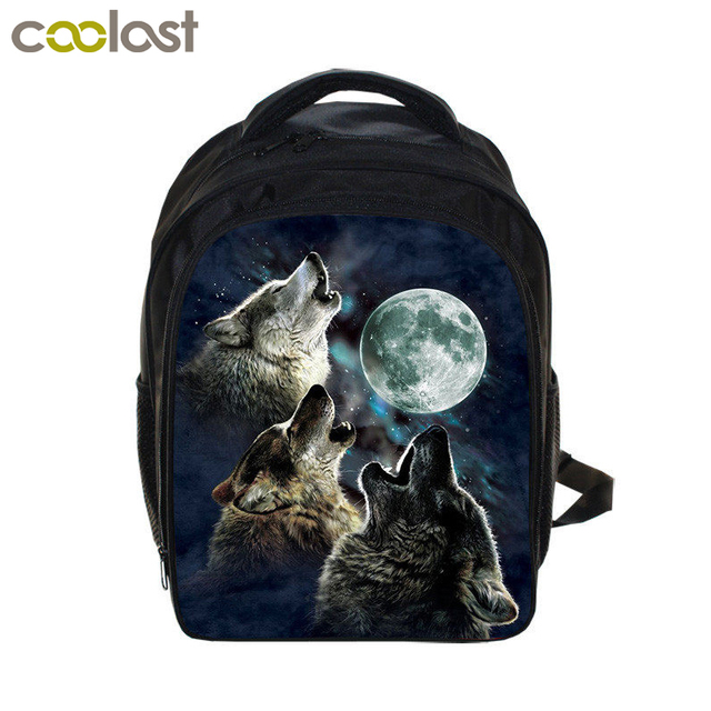 d07b7eb88f20 Howling Winter Wolf Backpack For Girls Boys Children Kindergarten Backpacks  School Bags Students Kids Husky Bag Bookbag Mochila