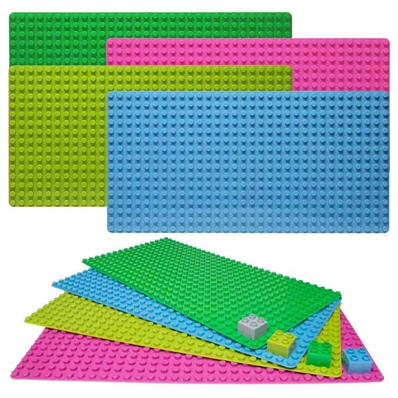 512 Particles Large Size Baseplate Base Plate Exlarge Brick 51* 25 cm Solid Plate Toys Compatible With Duplo For Kids Gifts kid s home toys large particles happy farm animals paradise model building blocks large size diy brick toy compatible with duplo