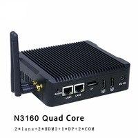 Best Selling Mini PC HTPC Celeron N3160 Quad Core Intl HD Graphics Micro PC Fanless Computer Windows7, 8,Linux,Metal Case Nettop