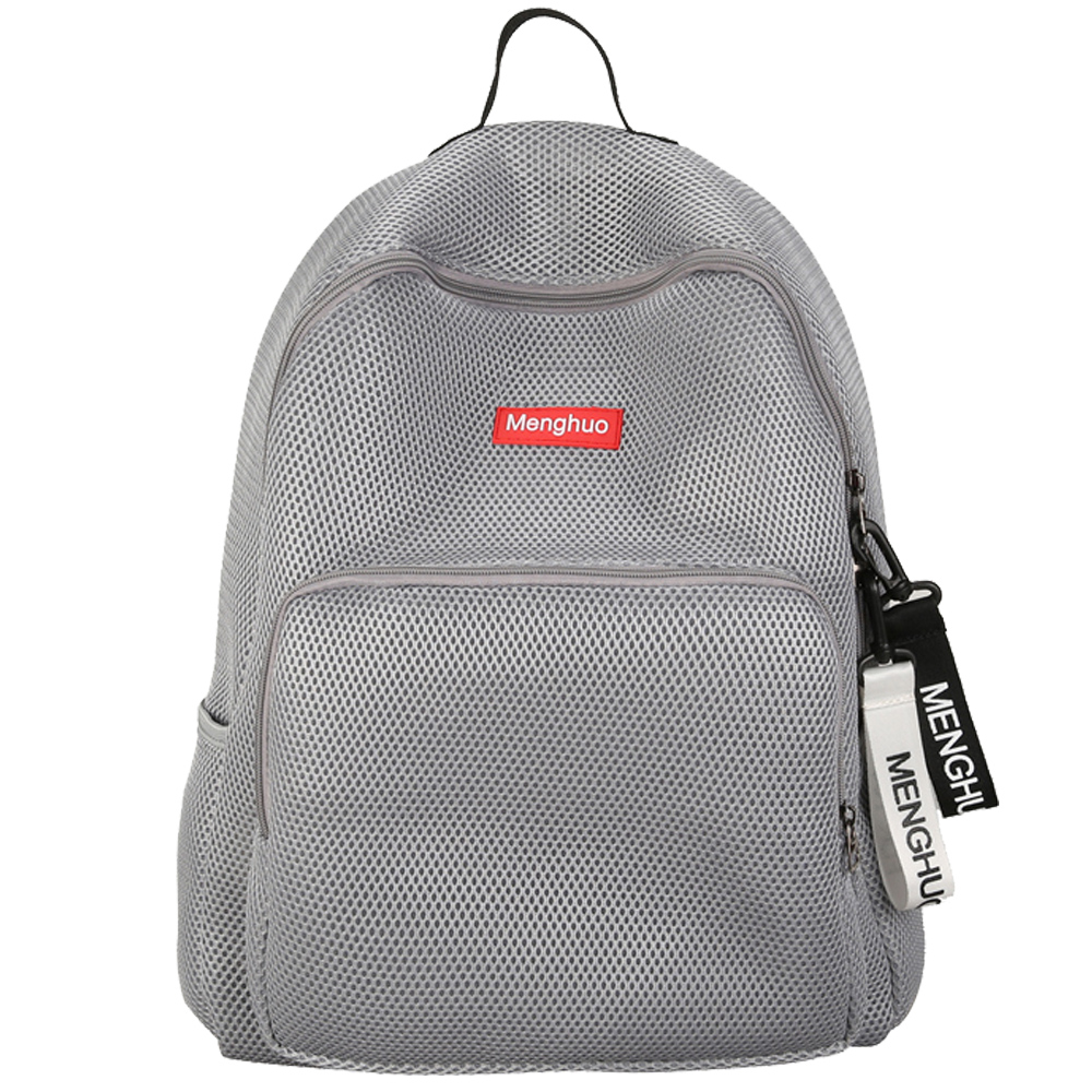 Menghuo 2017 Women Korean Mesh Backpack Bookbag School Bag Summer Teenage Girls Boys Lovers Transparent Bolsas Mochila In Backpacks From Luggage