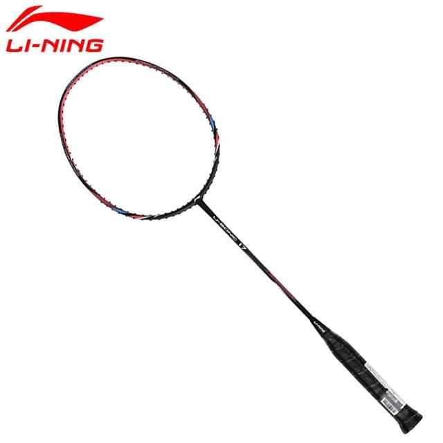 Li Ning Badminton Rackets Li-Ning Single Carbon Fiber Professional Rackets LiNing US 17 Slim Shaft Racquets AYPM226