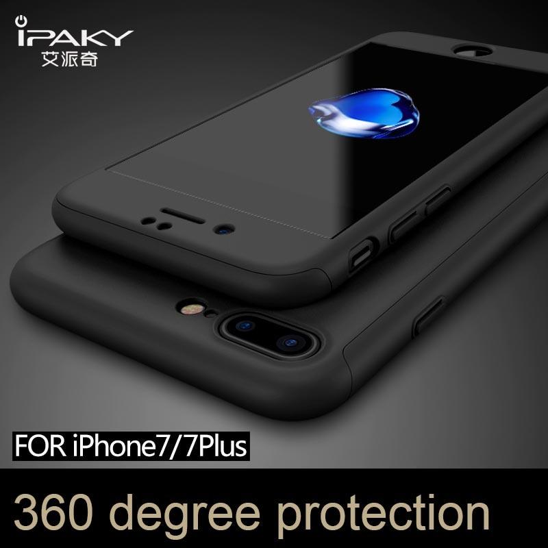 100% оригінальний бренд IPAKY Повний захист для iphone 7 4,7 '' для iphone 7 плюс 5,5 '' із плівкою із загартованого скла