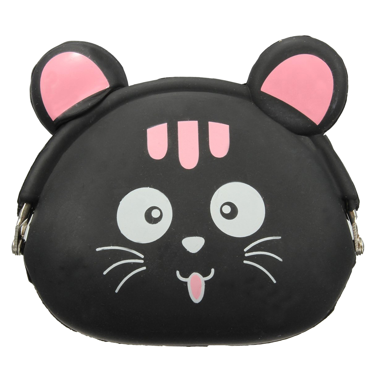 ASDS-Women Girls Wallet Kawaii Cute Cartoon Animal Silicone Jelly Coin Bag Purse Kids Gift Black cat lps pet shop toys rare black little cat blue eyes animal models patrulla canina action figures kids toys gift cat free shipping