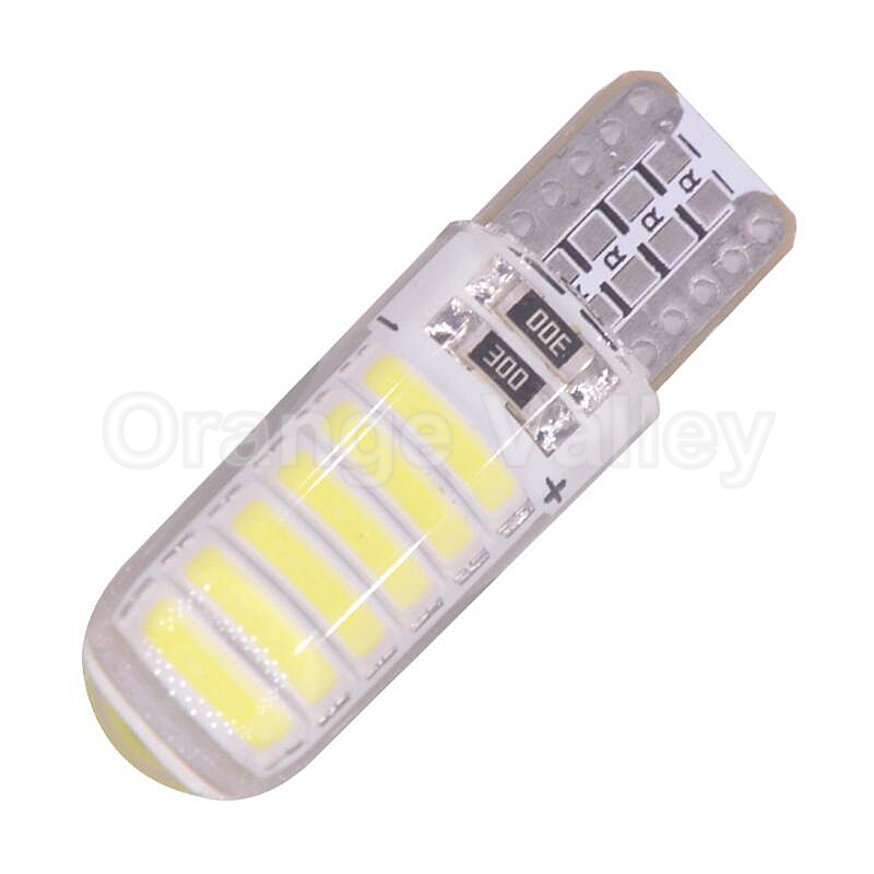 100Pcs waterproof T10 194 501 7020 SMD W5W Silica Gel 12 LED Car Auto Interior Lights