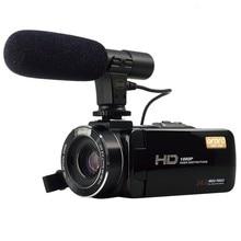 Full HD 1080 P 30FPS Wi-Fi Видеокамеры Портативный Цифровая Видеокамера с Внешнего Микрофона 3.0 inch Сенсорный ЖК-Экран Видео Рекордер