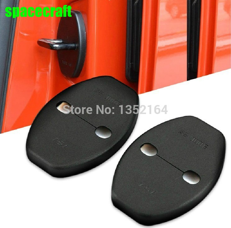 Auto door lock buckle cover, shock absorber pad for 2006-2013 toyota corolla/ camry/ yaris/vois/rav4,4pcs/lot, car styling