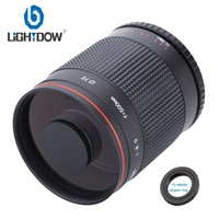 500mm F8.0 Telephoto Mirror Lens with T2 AI Adapter Ring for Nikon D3000 D3100 D7000 D80 D90 D7100 D5100 DSLR Camera