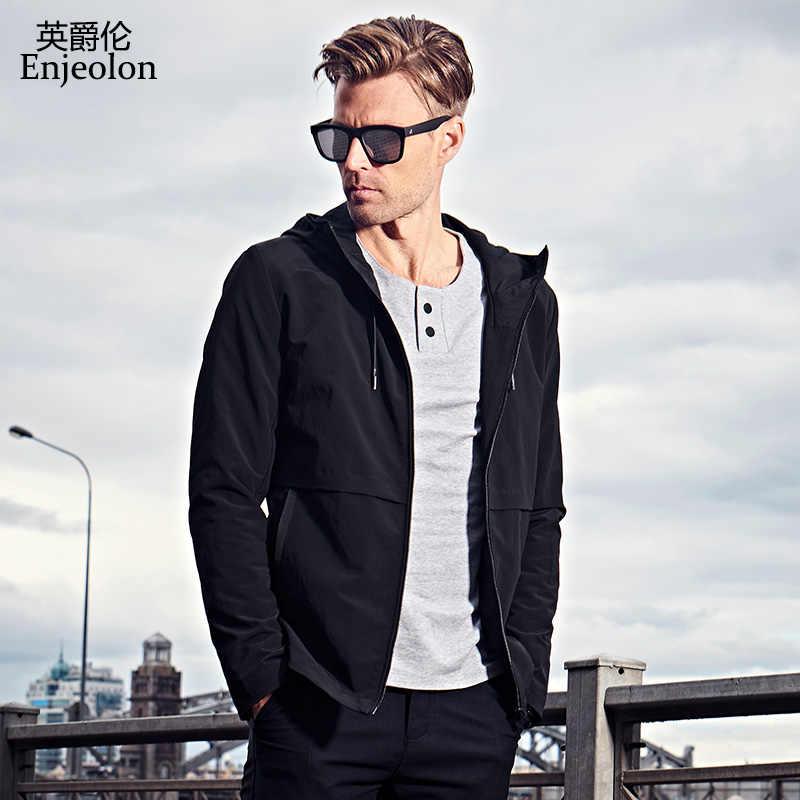 9f55e50f7f0 ... Enjeolon брендовые осенние толстовки с капюшоном куртка-бомбер мужские  куртки