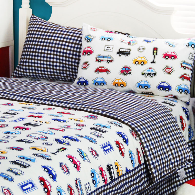 Cartoon car home textiles teenager,twin full queen king cotton boys crib,kid cute single double bed sheet pillowcaes duvet cover