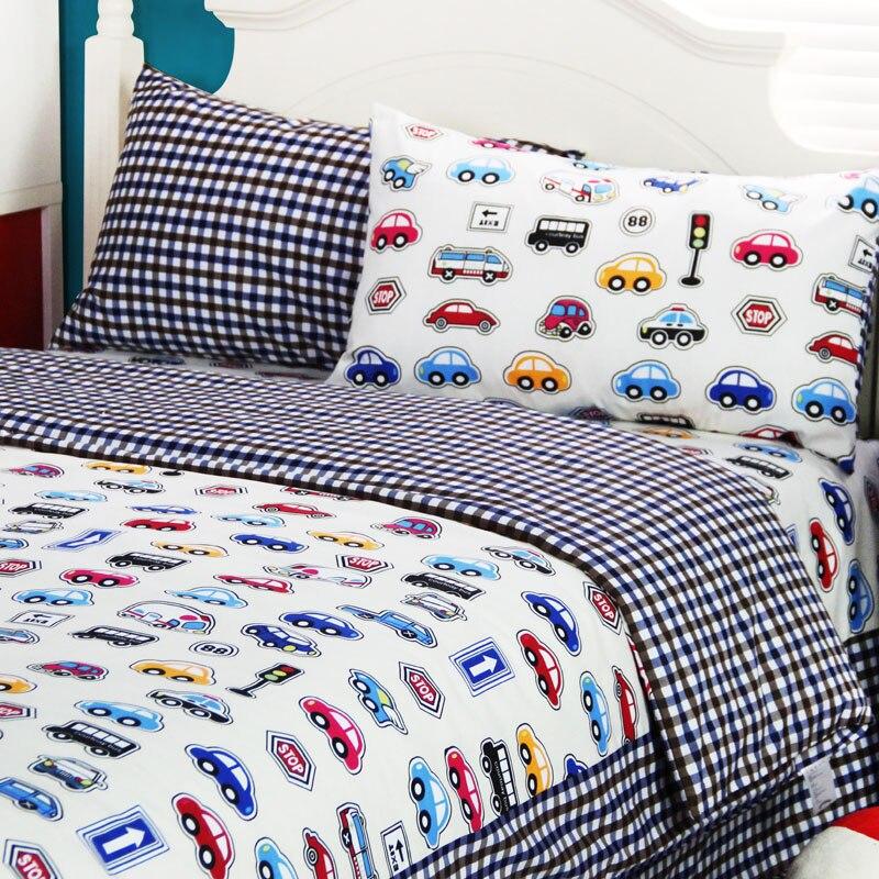 cartoon car home textiles teenagertwin full queen king cotton boys cribkid cute single double bed sheet pillowcaes duvet cover