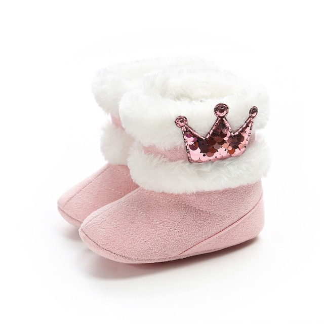 2019 Winter Baby Boots Soft Plush Ball Booties for Infant girls Anti Slip Snow Boot keep Warm Cute Crib Fashion shoes 0-18M 5