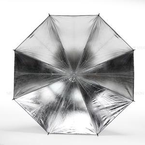 "Image 3 - 2 adet Godox 43 ""108 cm reflektör şemsiye fotoğraf stüdyosu flaş ışığı taneli siyah gümüş şemsiye"