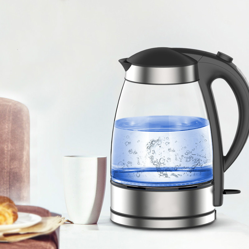 Glass electric kettle Household boiler 304 stainless steel large capacity automatic power Safety Auto-Off Function t shirt iceboys поло с коротким рукавом