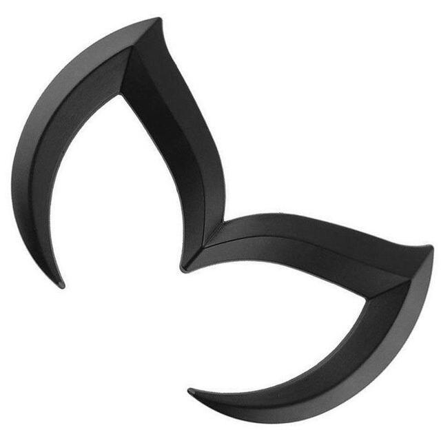 Aleación de Zinc negro Auto coche 3D Evil M Batman Cool Metal emblema Logo frontal trasero insignia rejilla pegatina para Mazda M2 M3 M5 M6 coche-stying