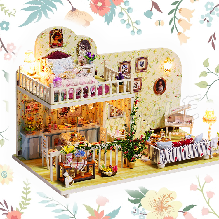 Miniature Doll House Village Of Amsterdam DIY Wooden